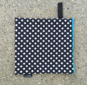 Luv Bug Wet Bag for Cloth Nappies, Swimwear, and Burp Cloths, Polka Dots with Green Zip