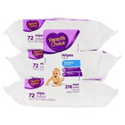 Parent's Choice Sensitive Baby Wipes, 3 packs of 72