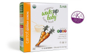 8x Organic Carrot Quinoa Infant & Baby Cereal Travel Packs w/ Naturally Occurring Omega 3, 6, 9 Protein, Iron, Magnesium, B2. Easiest First Foods to Digest. By WutsupBaby – 120ml