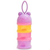 SKK Baby Milk Powder Container Dispenser Storage Travel BPA Free 3 Departments Pink