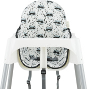Support pillow and cover Raccoon Town by Janabebé for IKEA Antilop High Chair