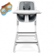 4moms High Chair, White/Grey With Divided Feeding Bowl