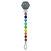 Itzy Ritzy Pacifier with Plastic Clip, Rainbow