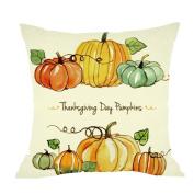 Gallity Hallowmas Thanksgiving Day Pillow Case Gifts 18 x 18 Cushion Cover Home Decor Design Pumpkin Pillow Cover Pillow Case 46cm x 46cm Cotton Linen for Sofa