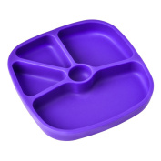 TTLIFE Silicone Placemat for Kids,Infant Toddlers,Baby Tray, Portable Fits Most Highchair -100% Food Grade ,FDA quality,Eco Friendly,BPA free,Non-skid Suction+ Bonus A HQ Portable Bag -Purple