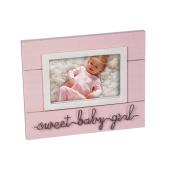 B. Boutique Sweet Baby Pink 4x6 Wooden Picture Frame