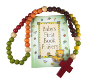 Baby's First Rosary and Baby's First Book of Prayers Gift Set, Catholic Baby Gifts, Baptism Gift, Christening Gift