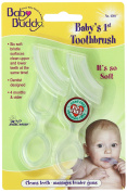 Baby Buddy Baby's 1st Toothbrush Teether—Innovative 6-Stage Oral Care System Grows With Your Child—Stage 4 for Babies/Toddlers—Kids Love Them, Clear 2 Pack
