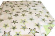 White Baby Blanket, Star Design