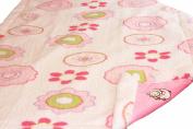 Pink Baby Girl Floral Blanket