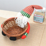Christmas Candy Storage Basket Decoration Santa Claus Storage Basket Gift