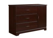 Storkcraft Brookside 3 Drawer Combo Dresser, Espresso