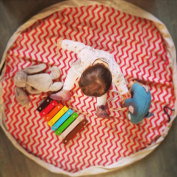 Large Portable Play Mat and Toy Storage Bag Organiser 140cm , Canvas by HugeHug