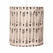 Camp River Rock Arrow Hanging Drum Shade and Light Kit by Glenna Jean