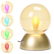 Night Lights for Kids, BALANSOHO Baby Nursery Lamp LED Night Light Bulb Lamp USB Rechargeable Bedside Lamp, Safe ABS+PS, Eye-Caring LED, Metal Bar Switch, 100 hours Runtime