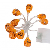 Halloween String Light,Fashion 1.2M 10LED Pumpkin String Lights For Halloween Party Decor By Orangeskycn