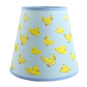 SooRoo Kids Duck Lamp Shade - Childrens Dozing Ducks Lampshade for Boys & Girls Nursery, Bedroom, Playroom, Classroom & More - Pink or Blue