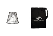 Darice Lamp Shade Metal Chicken Wire Round 8 x 18cm x 11cm . Top Open w/ Clip (2 Pack) CLE30399A bundled with 1 Artsiga Crafts Small Bag