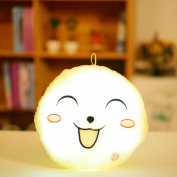 Cute Design emoji Glow LED Pillow Light Soft Cushion Home Plush Kids Toy Gift ,Tuscom