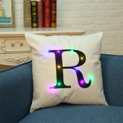 Christmas LED Cushion Cover Decor, Home Coffee Shop Decor Throw Pillowcase Sofa Flashing Car Decor,Tuscom