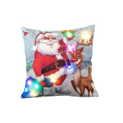 46cm Christmas LED Cushion Cover Decor For Sofa, Coffee Shop, Library, Book Store, Party