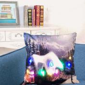 Christmas Lighting LED Cushion Cover Home Decor Throw Pillowcase Sofa Flashing,Tuscom,Removable,Washable