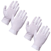2x Pairs Of Small 100% Cotton Moisturising Gloves - Medical Eczema/Dry Skin Hand Care