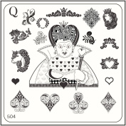 MoYou Nail Fashion Alice in Wonderland Style Image stamping nail art image plate 504