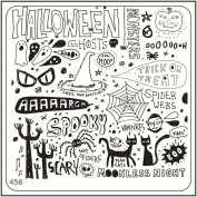 MoYou Nail Fashion Halloween Style Image stamping nail art image plate 456