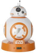 Star Wars BB8 Projection Alarm Clock, White/Orange