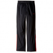 under armour boys' brawler warm-up pants, black/red, youth medium
