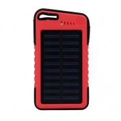 "20000 mah LED Waterproof Solar Power Battery ,Tuscom,Universal Dual-USB Solar Power Bank Battery Charger,5.5x 3"" x 1.3cm , 5V 2.1A"
