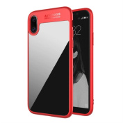 For iPhone X Protective Case Cover Skin,Tuscom, Soft Touch TPU Edge & Matte Black & Crystal Clear PC Back Panel with Anti-Scratch Coating,Tuscom