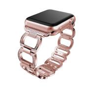 For Apple Watch Series 3/2/1 42MMAdjustable Stainless Steel Bracelet Smart Watch Band Strap,170-220MM,Repair Tool,Tuscom