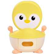 K & A Company Potty Toilet Training Seat Trainer Penguin Portable Baby Toddler Kid Bathroom in Yellow