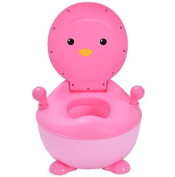 K & A Company Potty Toilet Training Seat Trainer Penguin Portable Baby Toddler Kid Bathroom in Pink
