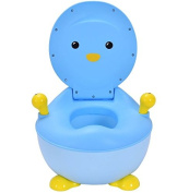 K & A Company Potty Toilet Training Seat Trainer Penguin Portable Baby Toddler Kid Bathroom in Blue