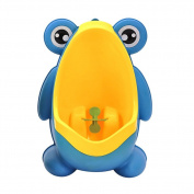 Cute Funny PP Frog Kids Toddler Boy Wall Type Potty Toilet Training Urinal Pee Bathroom Green Blue