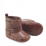 Hongxin Toddler Newborn Baby Boy Girl Crib Boots Soft Sole Prewalker Warm Martin Shoes
