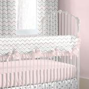 Carousel Designs Pink and Grey Chevron Crib Rail Cover