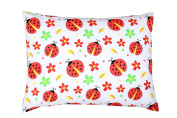 YourEcoFamily Toddler Pillow-14x19,Certified ORGANIC Shell w/Organic Cotton PillowCase -Soft,Colourful, Naturally Hypoallergenic