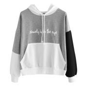Pullover Hoodie Sweatshirt ,Vanvler Women Long Sleeve Tops Blouse Printed Letters Hooded Clothes