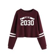 Hoodie Sweatshirt ,Vanvler O Neck Pullover Sweatshirt Letter Print Women Tops and Blouses