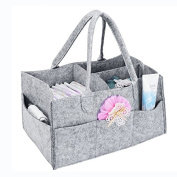 Nappy Caddy Organiser - Portable Nappy Bag Baby Nursery Storage Bin and crib car Organiser for Nappies and Changing Table Storage