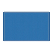 Flagship Office Classroom Decorative All Over Weave Blue Floor Rug Nylon Rectangle 2.1m x 3.7m