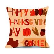 Clearance ! AmyDonghalloween gifts Fall autumn Harvest Cotton Linen Throw Waist Pillow Case Decorative Cushion Cover Pillowcase