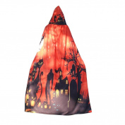 Kintaz Women Novelty Pumpkin Print Cape Scarf Lady Halloween Poncho Shawl Wrap Costume