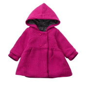 Baby Toddler Girl Autumn Winter Hoodded Overcoat Dubble Button Cloak Jacket Thick Warm Clothes