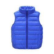 Kintaz Toddler Kids Infant Boys Girls Solid Puffer Jackets Warm Waistcoat Clothes Coat