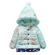 Kintaz Baby Toddler Girls Autumn Winter Hooded Puffer Coat Cloak Jacket Thick Warm Clothes